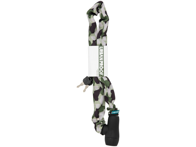 URBAN PROOF Chain Lock Cykellås 90cm grøn/hvid